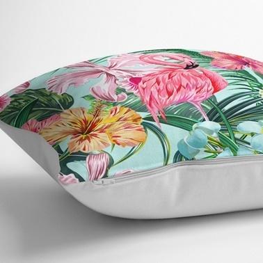Real Homes Tropikal Serisi Özel Tasarım 3'lü Kırlent Kılıfı Seti Renkli